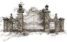 3D Rendered Cast Iron Gate On ...