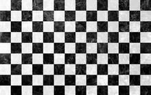 大理石調のチェッカータイル黒