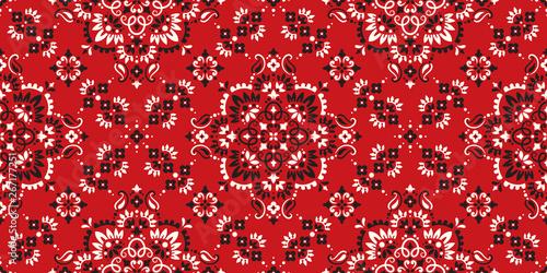Valokuva  Seamless pattern based on ornament paisley Bandana Print