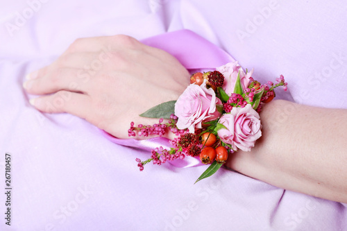 Wrist corsage for autumn wedding Wallpaper Mural