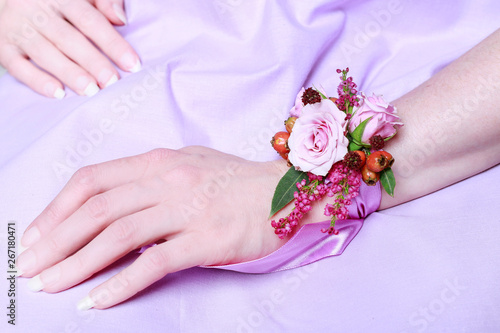 Photo Wrist corsage for autumn wedding