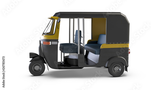 Autorickshaw isolated on white background Canvas-taulu