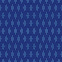 Seamless Thai Pattern, Blue And White Modern Shape For Design, Porcelain, Ceramic Tile, Texture, Wall, Paper And Fabric, Vector Illustration - Vector