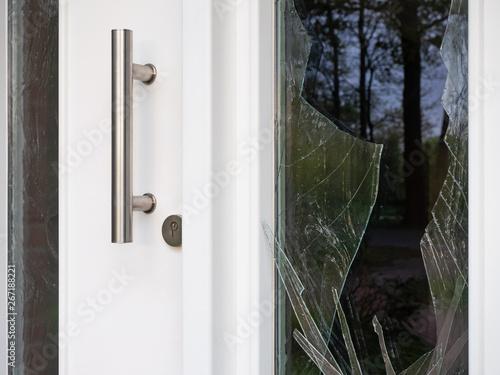 Pinturas sobre lienzo  Einbruchversuch - Haustür - Beschädigungen - Glasscheiben