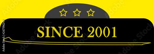 Fotografia  Since 2001 sign logo emblem symbol