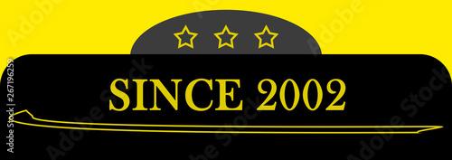 Fotografia  Since 2002 sign logo emblem symbol