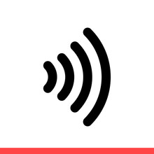 Nfc Vector Icon, Smart Payment Symbol. Simple, Flat Design Isolated On White Background For Web Or Mobile App