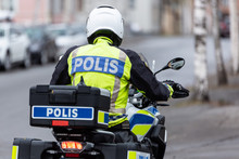 Swedish Motorcycle Police Officer