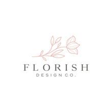 Beautiful Flower Vector Logo Design