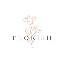 Beautiful Flower Vector Logo D...