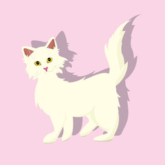 cute icon with a white cat