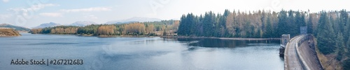 Fotografie, Obraz Garry-Moriston Hydro-Electric Power Scheme Loch Garry Landscape Panorama Highlan