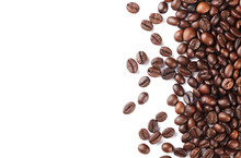 Roasted Coffee Beans Isolated ...