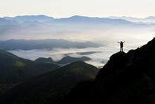 Wide Mountain Panorama. Small ...