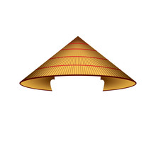 Asian Conical Rain Hat - Isola...