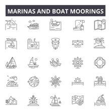 Marinas And Boat Moorings Line...
