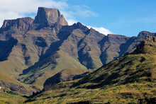 Sentinel Peak In The Amphitheater Of The Drakensberg Mountains, Royal Natal National Park, South Africa.