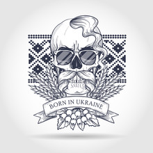 Hand Drawn Sketch, Skull With ...