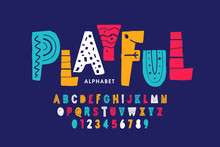 Playful Style Font Design, Chi...
