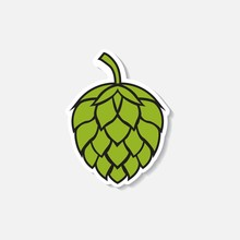 Hop Icon Isolated On White Bac...