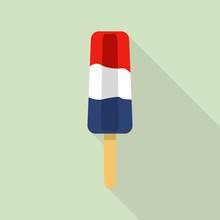 France Flag Popsicle Icon. Flat Illustration Of France Flag Popsicle Vector Icon For Web Design