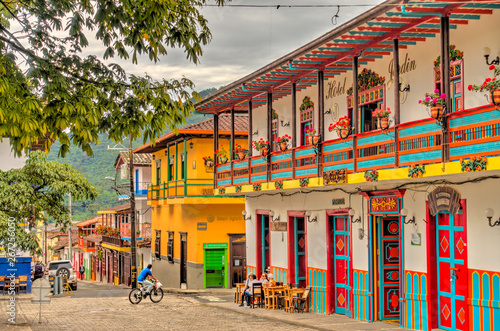 Tableau sur Toile Jardin, picturesque town in Antioquia, Colombia
