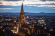 Stadtansicht Freiburg mit Münster, BW, Germany