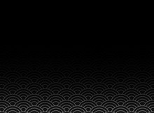 Vector Of Black Japanese Wave Pattern With Black Gradient