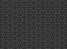 Vector Background Of Blackjapanese Wave Pattern