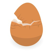 Eggshell Icon. Isometric Of Eggshell Vector Icon For Web Design Isolated On White Background