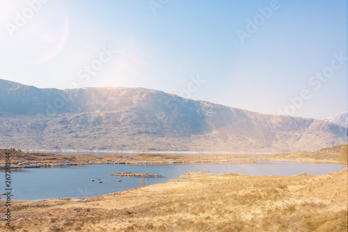 Valokuva Loch Garry Landscape Panorama Highlands Scotland Great Britain
