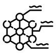 Molecular lattice icon. Outline molecular lattice vector icon for web design isolated on white background