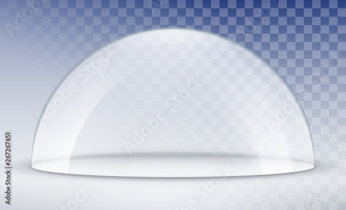 Glass dome container mock-up Fototapet