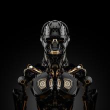 Mechanical Robotic Bust, 3d Re...