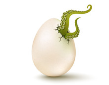 Egg With Aliens Tentacles