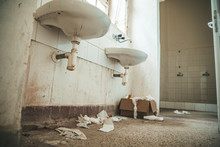 Old Dirty Toilet In Abandoned ...