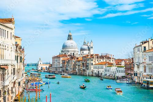 Fotobehang Venice Grand Canal and Basilica Santa Maria della Salute in Venice, Italy