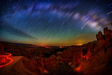 Star Trails Over Bryce Canyon, Single Shot.
