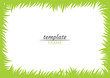 Template green frame of grass - horizontal