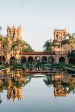 The Lily Pond And Historic Architecture At Balboa Park, In San Diego, California