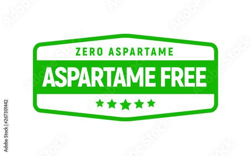 Photo Aspartame free artificial symbol icon
