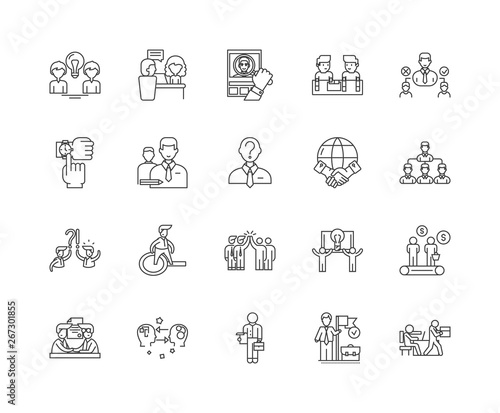 Fotografie, Obraz  Errand service line icons, linear signs, vector set, outline concept illustratio