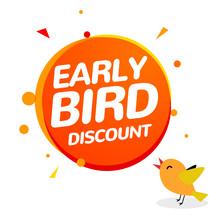 Early Bird Discount Vector Spe...