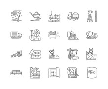Foundation Line Icons, Linear Signs, Vector Set, Outline Concept Illustration