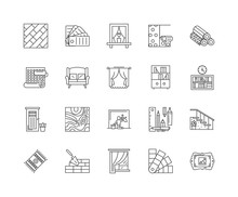 Furniture Refinishing Line Icons, Linear Signs, Vector Set, Outline Concept Illustration