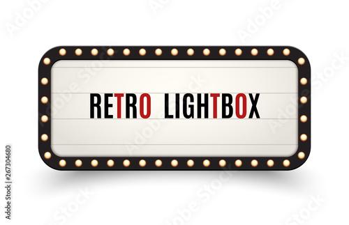 Retro lightbox billboard vintage frame Canvas Print