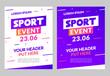 Sport flyer design banner poster. Sport event template brochure for match championship promotion