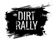 Dirt Rally Road Track Tire Gringe Texture. Motorcycle Or Car Race Dirty Wheel Trail Word Imprint