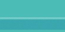 Turquoise Blue Polka Dot Circles. Vector Border Seamless Background. Hand Drawn Texture Style. Tiny Small Dotty Illustration. Trendy Nautical Home Decor, Maritime Fashion Print, Modern Wallpaper.
