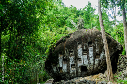 Spoed Foto op Canvas Grijze traf. Rantepao ceremony burial Indonesia Toraja